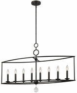 Crystorama 9168-EB Cameron English Bronze Kitchen Island Light