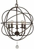 Crystorama 9224-EB Solaris English Bronze Mini Ceiling Chandelier
