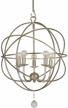 Crystorama 9224-OS Solaris Olde Silver Mini Hanging Chandelier