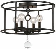 Crystorama 9267-EB Cameron English Bronze Ceiling Light Fixture
