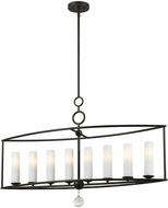 Crystorama 9268-EB Cameron English Bronze Island Light Fixture