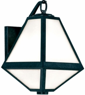 Crystorama GLA-9701-BC Glacier Black Charcoal Exterior Wall Light Sconce