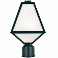 Crystorama GLA-9707-BC Glacier Black Charcoal Exterior Post Lamp