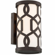 Crystorama JEN-2201-DB Jennings Modern Dark Bronze Exterior Wall Light Sconce