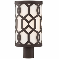 Crystorama JEN-2207-DB Jennings Contemporary Dark Bronze Outdoor Post Light