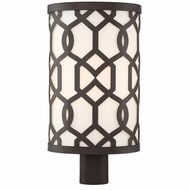 Crystorama JEN-2209-DB Jennings Modern Dark Bronze Exterior Lighting Post Light