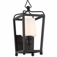 Crystorama SYL-2211-BF Sylvan Modern Black Forged Exterior Wall Lamp