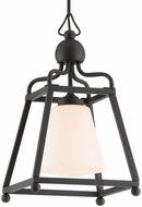 Crystorama SYL-2280-BF Sylvan Contemporary Black Forged Outdoor Pendant Lighting