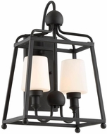 Crystorama SYL-2282-BF Sylvan Contemporary Black Forged Outdoor Sconce Lighting