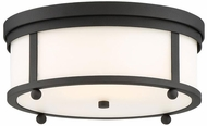 Crystorama SYL-2283-BF Sylvan Modern Black Forged Exterior Ceiling Lighting Fixture