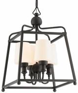 Crystorama SYL-2285-BF Sylvan Modern Black Forged Exterior Lighting Pendant