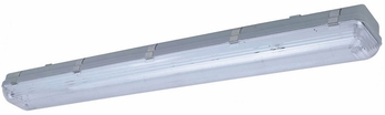 Cyber Tech C48232VP-LED Fluorescent Outdoor Retrofited Vapor Tight Flush Ceiling Light Fixture