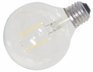 Cyber Tech LB2CG25-WW 2 Watt LED Clear G25 Globe Filament Bulb