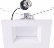 Cyber Tech LC19RT6-SQW-WW LED Exterior 6  DimmableSquare Retrofit Downlight Recessed Lighting Trim