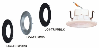 Cyber Tech LC4-TRIM 4 Round Trim for Recessed Lighting
