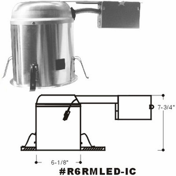 Cyber Tech R6RMLED-IC 6  Remodel Can IC/Air Tight
