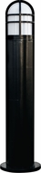 Dabmar D110-B Modern Black Exterior Fiberglass Bollard Path Lighting