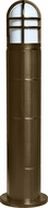 Dabmar D110-BZ Contemporary Bronze Outdoor Fiberglass Bollard Pathway Lighting