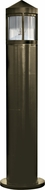 Dabmar D120-BZ Contemporary Bronze Outdoor Fiberglass Bollard Pathway Lighting