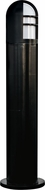 Dabmar D130-B Modern Black Exterior Fiberglass Bollard Path Lighting