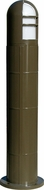Dabmar D130-LED112-BZ Contemporary Bronze LED Outdoor Fiberglass Bollard Pathway Lighting