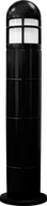 Dabmar D140-B Modern Black Exterior Fiberglass Bollard Path Lighting