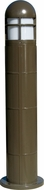Dabmar D140-BZ Contemporary Bronze Outdoor Fiberglass Bollard Pathway Lighting