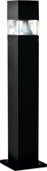 Dabmar D150-B Modern Black Exterior Fiberglass Bollard Path Lighting