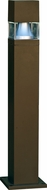 Dabmar D150-BZ Contemporary Bronze Outdoor Fiberglass Bollard Pathway Lighting