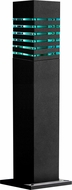 Dabmar D170-B Modern Black Exterior Powder Coated Bollard Path Lighting
