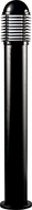Dabmar D3300-B Modern Black Exterior Powder Coated Cast Aluminum Bollard Path Lighting
