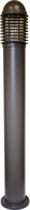 Dabmar D3300-BZ Contemporary Bronze Outdoor Powder Coated Cast Aluminum Bollard Pathway Lighting