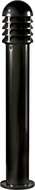 Dabmar D3400-B Modern Black Exterior Powder Coated Cast Aluminum Bollard Path Lighting