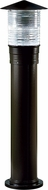 Dabmar D360-B Modern Black Exterior Powder Coated Cast Aluminum Bollard Path Lighting