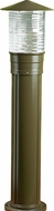 Dabmar D360-BZ Contemporary Bronze Outdoor Powder Coated Cast Aluminum Bollard Pathway Lighting