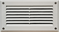 Dabmar DSL1000-W White Outdoor Recessed Louvered Step Lighting Fixture