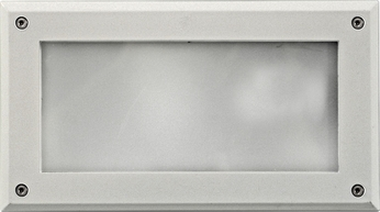 Dabmar DSL1001-W Modern White Outdoor Recessed Open Face Step Lighting Fixture