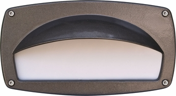 Dabmar DSL1014-BZ Contemporary Bronze Outdoor Recessed Hooded Step Lighting Fixture