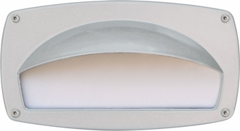 Dabmar DSL1014-W Contemporary White Outdoor Recessed Hooded Step Lighting