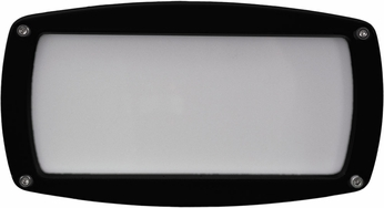 Dabmar DSL1016-B Modern Black Exterior Recessed Open Face Step Light Fixture