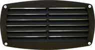Dabmar DSL1017-B Black Outdoor Recessed Louvered Step Lighting Fixture