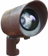 Dabmar FG132-BZ Bronze Halogen Outdoor Fiberglass Directional Spot Light with Hood