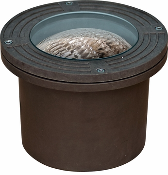 Dabmar FG316-BZ Modern Bronze Halogen Outdoor Fiberglass Well Light