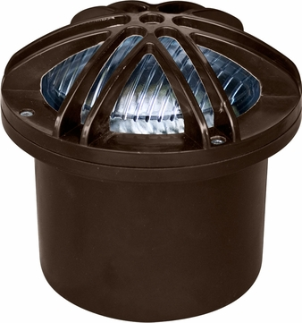 Dabmar FG327-BZ Modern Bronze Halogen Outdoor Fiberglass Adjustable Well Light with Star Grill
