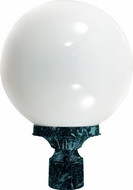 Dabmar GM240-VG Verde Green Exterior Powder Coated Cast Aluminum Lamp Post Light Fixture