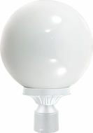 Dabmar GM240-W White Outdoor Powder Coated Cast Aluminum Post Light Fixture