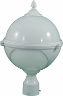 Dabmar GM972-W White Exterior Powder Coated Cast Aluminum Pole Lighting Fixture