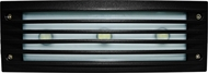Dabmar LV-LED621-B Contemporary Black LED Outdoor Recessed Louvered Step Lighting