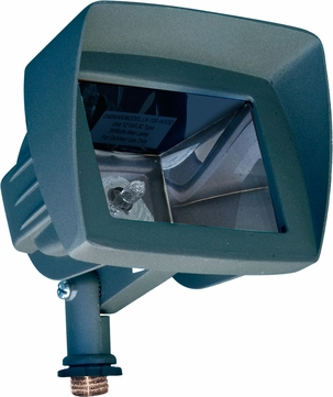 Dabmar LV105-HOOD-G Contemporary Green Halogen Outdoor Flood Light Fixture