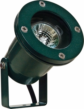 Dabmar LV108-G Contemporary Green Halogen Outdoor Cast Aluminum Directional Spotlight